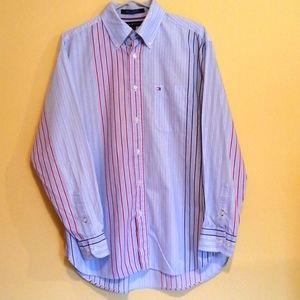 Vintage Tommy Hilfiger Men's Long Sleeve Shirt